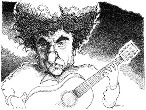 Bob Dylan illustration