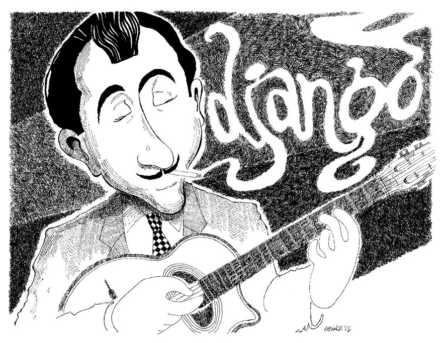 Django Reinhardt illustration