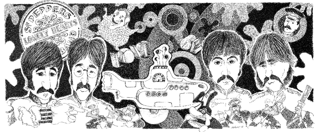 The Beatles illlustration