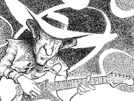 Stevie Ray Vaughan illustration